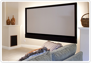 Home Theater Projector Screen in Tampa, FL